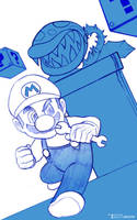 Run Mario Run by artist Tom Kelly by TomKellyART