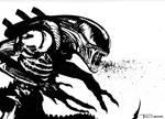 Alien Spitter by artist Tom Kelly by TomKellyART