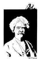 Mark Twain by artist TomKelly by TomKellyART