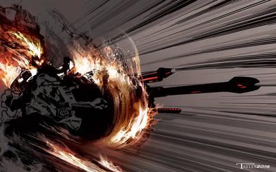 Ghostrider Interceptor by artist Tom Kelly by TomKellyART