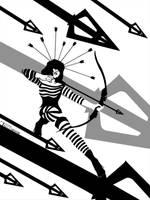 Lady Hawkeye by artist TomKelly by TomKellyART
