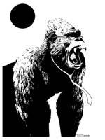 monkeyman by artist Tom Kelly by TomKellyART