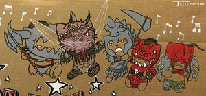 Riot fest 2015 GWAR kitties by Tom kelly by TomKellyART