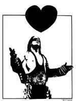 Bret the hitman Hart by artist Tom Kelly by TomKellyART
