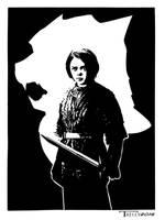 Arya Stark Valar Morghulis by artist Tom Kelly by TomKellyART