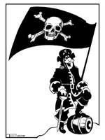 Captain Crunch Black Label by Artist Tom Kelly by TomKellyART