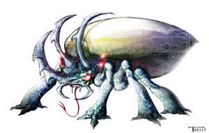 Alien Rhino Beatle By Tom Kelly by TomKellyART