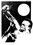 Miles Davis Wailing by artist Tom Kelly by TomKellyART