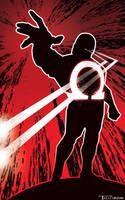 Darkseid Omega Black by Tom Kelly by TomKellyART