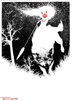 Mononoke Rides by Tom Kelly by TomKellyART