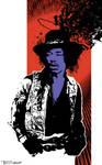 Jimi Hendrix by Tom Kelly by TomKellyART