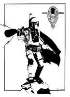 Boba Fett Magnum force by Tom Kelly by TomKellyART