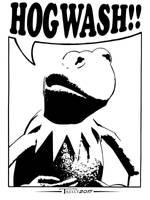 Kermit Hogwash by Tom Kelly by TomKellyART