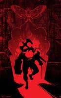 Hellboy Scarlet Door By Tom Kelly by TomKellyART
