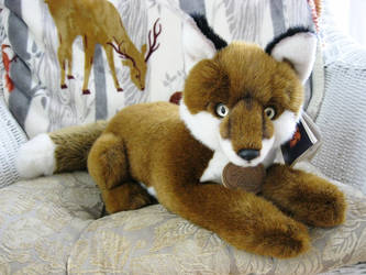 Aurora Classics Laying Red Fox Plush by ShadoweonCollections
