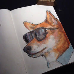 Fashion Doge (Sketchbook) by ClaudiaCooper