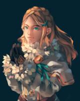 Zelda (BOTW 1st anniversary!) by ihadtopickaname