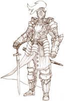 half plate suit of armor by Art-Calavera