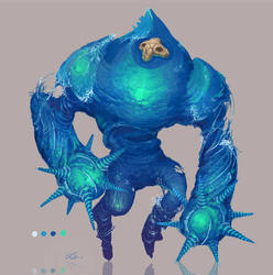 Chronicles of Jinx / Water Elemental Concept Art by Art-Calavera