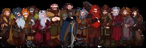 The Hobbit, Thorin and Company by Art-Calavera