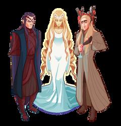 Elven Lords by Art-Calavera