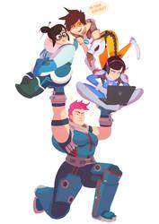 Overwatch team by Art-Calavera
