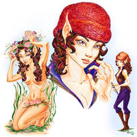 Foxfur - Elfquest fan calendar 2014 by PhoenixAnna