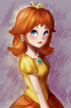 Princess Daisy [+ Speedpaint] by Yaantii
