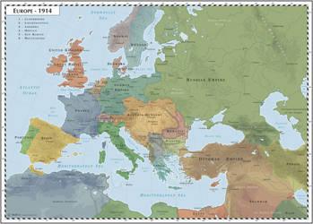 Europe - 1914 by Cyowari