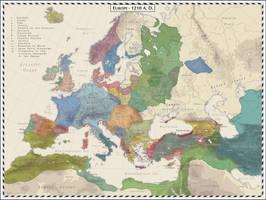Europe 1210 AD by Cyowari