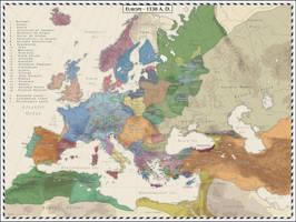 Europe 1330 AD by Cyowari