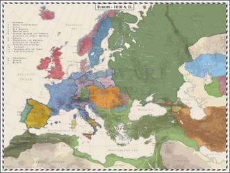 Europe 1810 by Cyowari