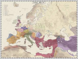 Europe - 480 AD by Cyowari