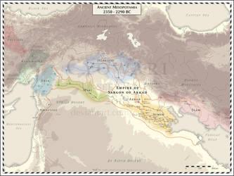 Ancient Mesopotamia 2350-2290 BC by Cyowari