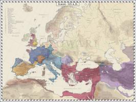 Europe - 525 AD by Cyowari