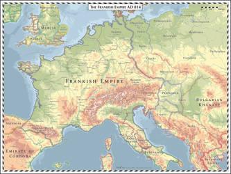 Frankish Empire AD 814 by Cyowari