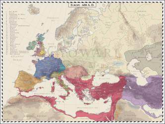 Europe - 600 AD by Cyowari
