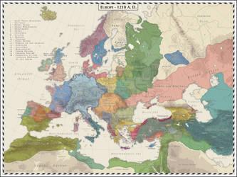 Europe 1210 AD - Re-work by Cyowari