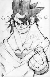 Goku Sketch by Zatransis