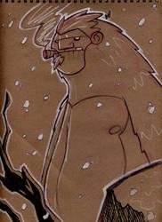 SketchBomb: May 22 2010 Yeti by Zatransis
