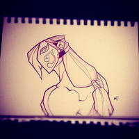 Street Fighter Sketch : Vega by Zatransis
