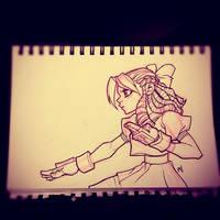 Street Fighter Sketch : Karin by Zatransis