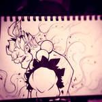 Street Fighter Sketches: Gouki by Zatransis