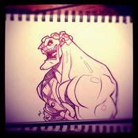 Street Fighter Sketch: Hakan by Zatransis