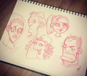 Head Sketches by Zatransis