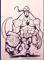 Inktober 2014 - Day 1 - Hellboy by Zatransis