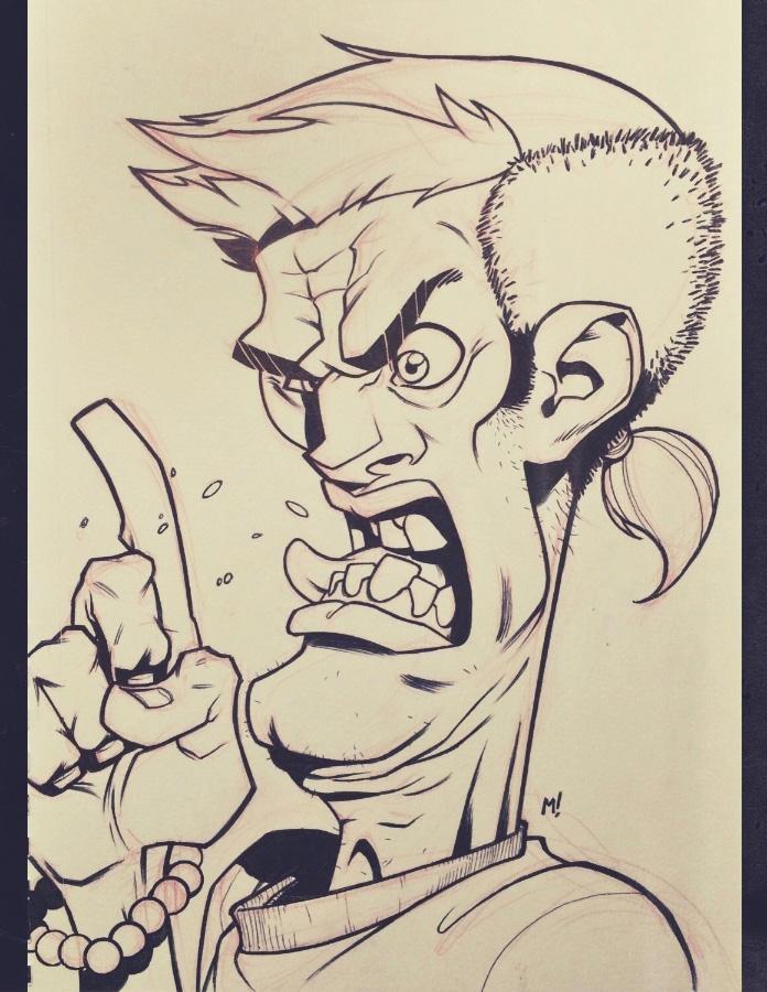 Inktober 2014 - Day 2 - Weirdo Makes a Point by Zatransis