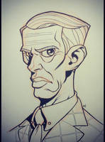 Inktober 2014 - Day 4 - Nucky Thompson by Zatransis