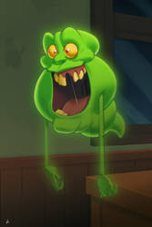 Slimer - The Real Ghostbusters by Zatransis