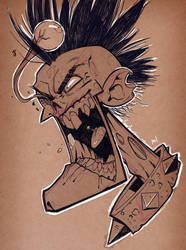 SketchBomb BCN - Zombie Punk by Zatransis
